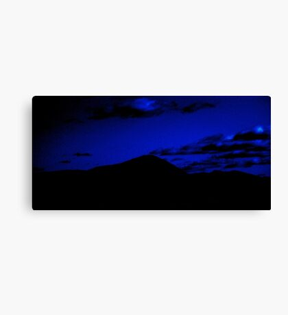 A Mountain Under Night Sky Canvas Print