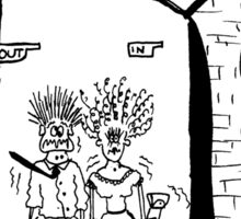 Zoo Humour - Cartoon 0002 Sticker
