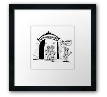 Zoo Humour - Cartoon 0002 Framed Print