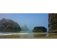 Foggy Beach Afternoon Photographic Print