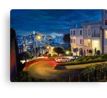 View at Lombard Street in San Francisco - painting Canvas Print
