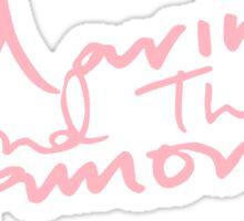 M Logo II Pink Sticker