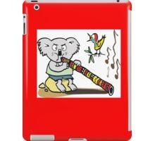 Koala playing didgeridoo cartoon iPad Case/Skin
