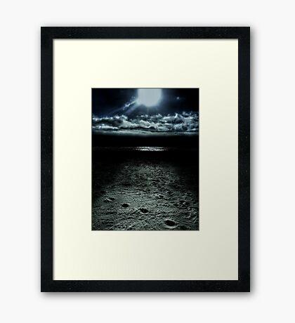 Manhattan Beach Dark Framed Print