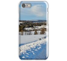 The Countryside in Winter iPhone Case/Skin