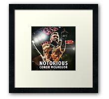 Notorious McGregor Fingers UFC194 Framed Print
