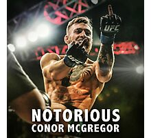 Notorious McGregor Fingers UFC194 Photographic Print