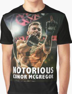 Notorious McGregor Fingers UFC194 Graphic T-Shirt
