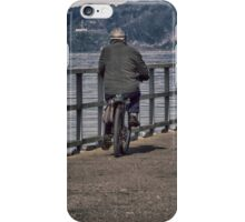 Cyclist On The Wharf iPhone Case/Skin