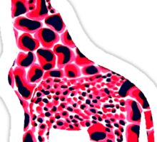 Red Giraffe Sticker
