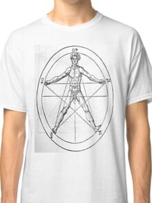 Pentagram and Human body Classic T-Shirt