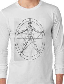 Pentagram and Human body Long Sleeve T-Shirt