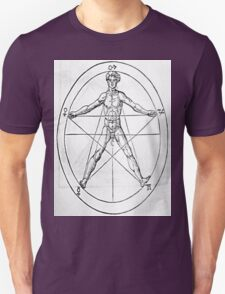 Pentagram and Human body Unisex T-Shirt