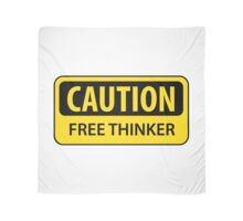 Caution Free Thinker - mug Scarf