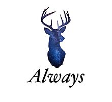 Always - Harry Potter Stag Photographic Print