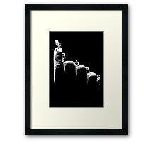 Authority hand Framed Print
