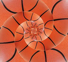 Droste Basketball Spiral by Kitty Bitty