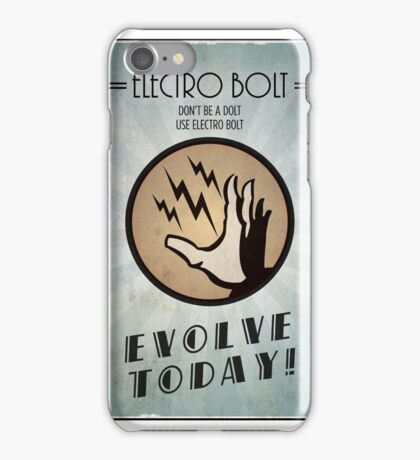 Bioshock Plasmid Poster Electro Bolt iPhone Case/Skin