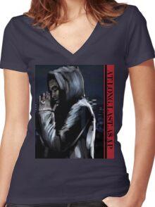 ASAP ROCKY  -  JD Women's Fitted V-Neck T-Shirt