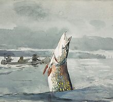 Winslow Homer, Pike, Lake St. John (Ouananiche Fishing) by Adam Asar