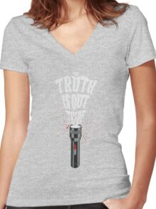 Out There Women's Fitted V-Neck T-Shirt
