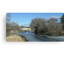 Lost River in the Winter Canvas Print