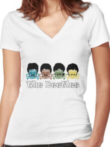 The Beatles/Beetles Women's Fitted V-Neck T-Shirt