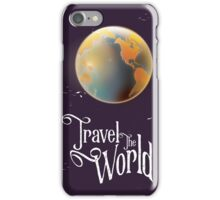 Travel the World Vintage earth poster iPhone Case/Skin