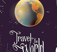 Travel the World Vintage earth poster by Nick  Greenaway