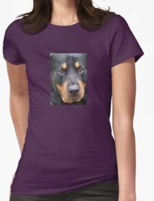 Beautiful  Female Rottweiler Portrait Vector Womens Fitted T-Shirt