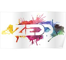 ZEDD COLORFUL LOGO Poster