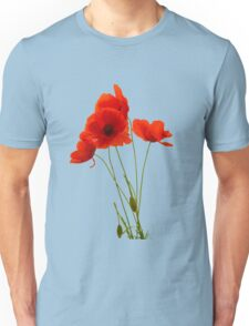Delicate Red Poppies Vector Unisex T-Shirt