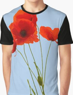 Delicate Red Poppies Vector Graphic T-Shirt
