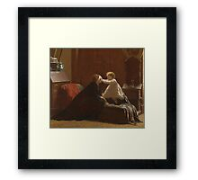 xxx Bo Peep (The Peep) By Eastman Johnson Framed Print