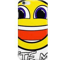 Smile Bite Me - Passive Aggressive Smiley Face Geek iPhone Case/Skin