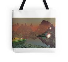 Commuter Flights on Talus 5 Tote Bag