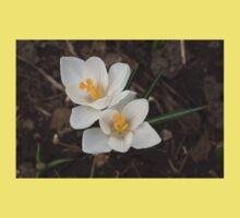 Bridal White Pair - Crocus Harbingers of Spring Kids Clothes