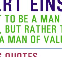Motivational Quotes - ALBERT-EINSTEIN Sticker