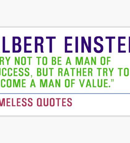 Motivational Quotes - ALBERT-EINSTEIN Sticker