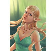 Charlotte - Fantasy Elf Portrait Photographic Print