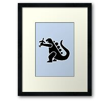 Godzilla take a plane Framed Print