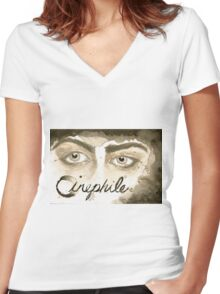 Cinephile Women's Fitted V-Neck T-Shirt