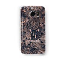 Modern rose gold blue dreamcatcher floral pattern  Samsung Galaxy Case/Skin
