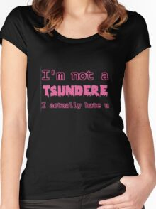 TSUNDERE Women's Fitted Scoop T-Shirt