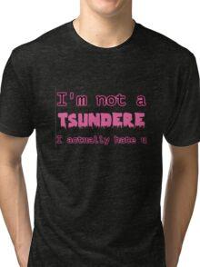 TSUNDERE Tri-blend T-Shirt