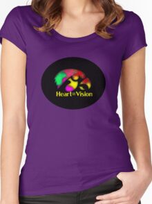 Heart = Vision Women's Fitted Scoop T-Shirt