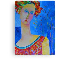 Female portraiture unique oil painting Canvas Print