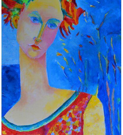 Female portraiture unique oil painting Sticker