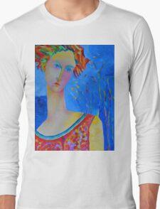 Female portraiture unique oil painting Long Sleeve T-Shirt