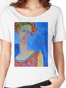 Female portraiture unique oil painting Women's Relaxed Fit T-Shirt